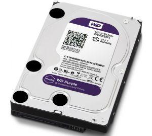 Жесткий диск (HDD), стандарт SATA-III, объем 4000 GB (4 TB) для видеонаблюдения WD Purple (WD40PURX)