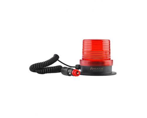Проблесковый маяк на автомобиль с магнитным основанием и звуком, 12-24 В AC / DC, красный