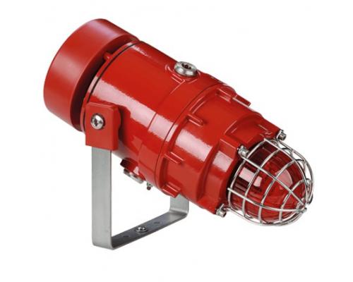 STExC1X05R Взрывобезопасная радиальная сирена и ксеноновый строб-маяк